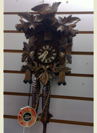 Schneider Mechanical 2 day Five Leave and a Bird Cuckoo Clock